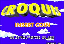 Title screen of Croquis on the Arcade.