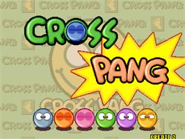 Title screen of Cross Pang on the Arcade.