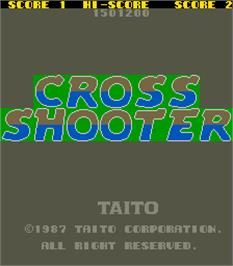 Title screen of Cross Shooter on the Arcade.