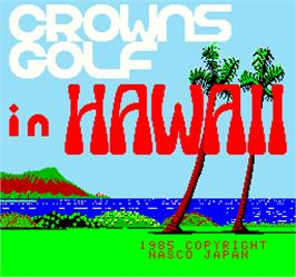 Title screen of Crowns Golf in Hawaii on the Arcade.