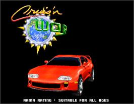 Title screen of Cruis'n World on the Arcade.