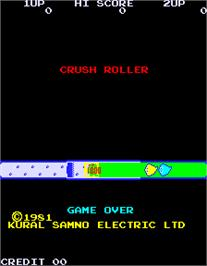 Title screen of Crush Roller on the Arcade.