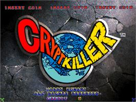 Title screen of Crypt Killer on the Arcade.