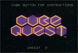 Title screen of Cube Quest on the Arcade.