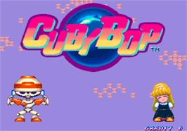 Title screen of Cuby Bop on the Arcade.