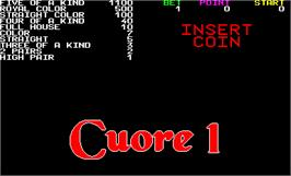 Title screen of Cuore 1 on the Arcade.