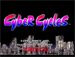 Title screen of Cyber Cycles on the Arcade.
