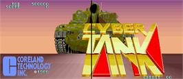 Title screen of Cyber Tank on the Arcade.