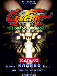 Title screen of Cyvern on the Arcade.
