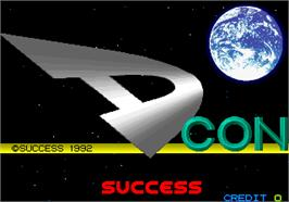 Title screen of D-Con on the Arcade.