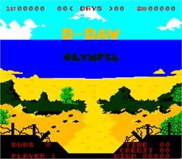 Title screen of D-Day on the Arcade.