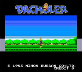 Title screen of Dacholer on the Arcade.