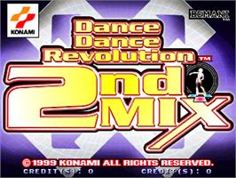 Title screen of Dance Dance Revolution 2nd Mix on the Arcade.
