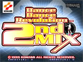 Title screen of Dance Dance Revolution 2nd Mix - Link Ver on the Arcade.