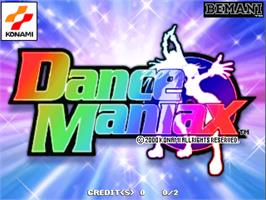 Title screen of Dance Maniax on the Arcade.