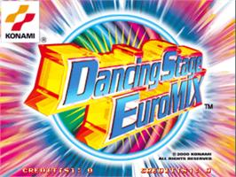 Title screen of Dancing Stage Euro Mix on the Arcade.