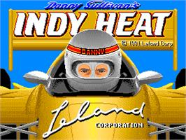 Title screen of Danny Sullivan's Indy Heat on the Arcade.