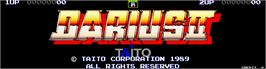 Title screen of Darius II on the Arcade.
