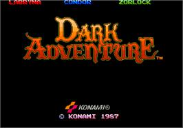 Title screen of Dark Adventure on the Arcade.