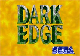 Title screen of Dark Edge on the Arcade.