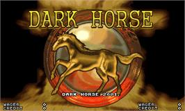 Title screen of Dark Horse on the Arcade.