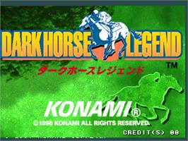 Title screen of Dark Horse Legend on the Arcade.