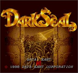 Title screen of Dark Seal on the Arcade.