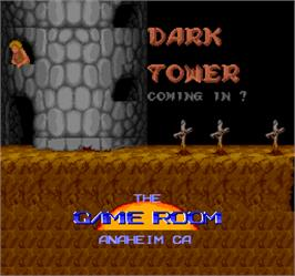 Title screen of Dark Tower on the Arcade.