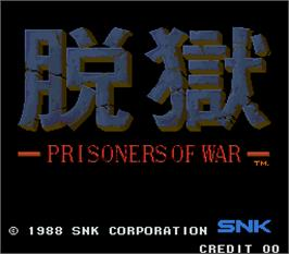 Title screen of Datsugoku - Prisoners of War on the Arcade.