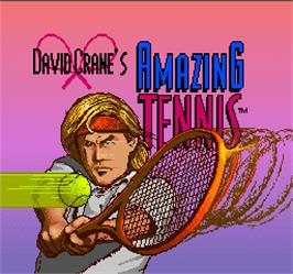Title screen of David Crane's Amazing Tennis on the Arcade.