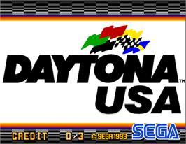 Title screen of Daytona USA Deluxe '93 on the Arcade.