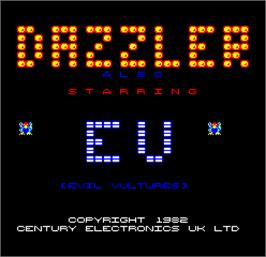 Title screen of Dazzler on the Arcade.