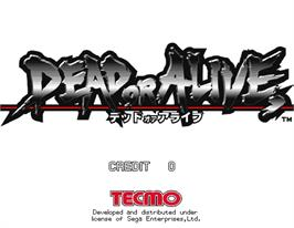 Title screen of Dead or Alive on the Arcade.