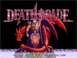 Title screen of Death Brade on the Arcade.