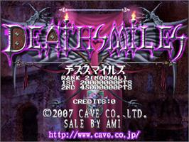 Title screen of Death Smiles on the Arcade.