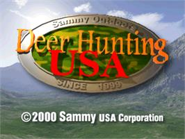 Title screen of Deer Hunting USA V2 on the Arcade.