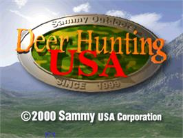 Title screen of Deer Hunting USA V4.3 on the Arcade.