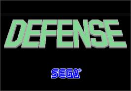 Title screen of Defense on the Arcade.
