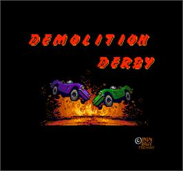 Title screen of Demolition Derby on the Arcade.