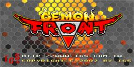 Title screen of Demon Front on the Arcade.