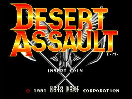 Title screen of Desert Assault on the Arcade.