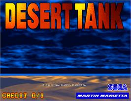 Title screen of Desert Tank on the Arcade.