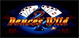 Title screen of Deuces Wild 2 - American Heritage on the Arcade.