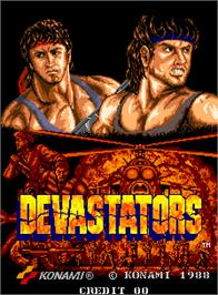 Title screen of Devastators on the Arcade.