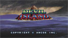 Title screen of Devil Island on the Arcade.