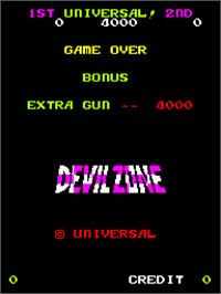 Title screen of Devil Zone on the Arcade.