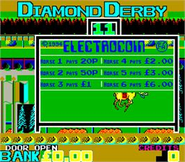 Title screen of Diamond Derby on the Arcade.