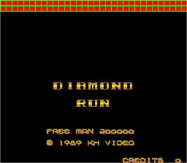 Title screen of Diamond Run on the Arcade.