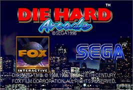 Title screen of Die Hard Arcade on the Arcade.