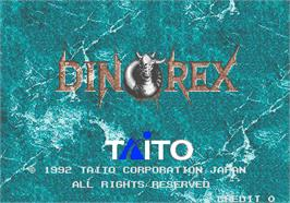 Title screen of Dino Rex on the Arcade.
